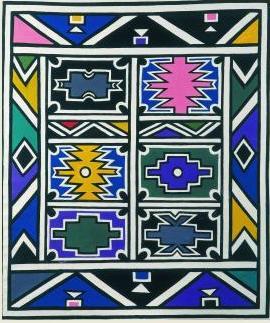 Esther Mahlangu, Senza titolo, 1991 (Collezione Pigozzi, Ginevra)