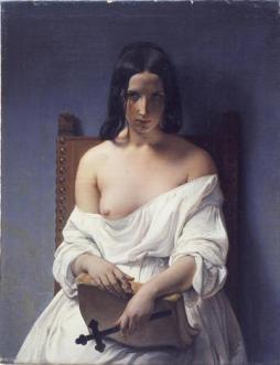 Francesco Hayez, La Meditazione (L'Italia nel 1848), 1850, Comune di Verona, Galleria d'Arte Moderna