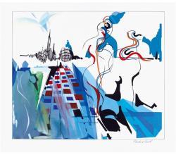 Nadir Afonso, Electra e Oreste, 1996, Guache sobre papel, 27,5x32,5 cm