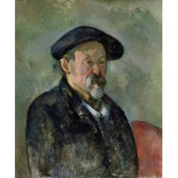 Paul Cézanne, Self portrait with cap, 1898-1899 circa, oil on canvas, 64x53,5 cm, Boston, Museum of Fine Arts Charles H. Bayley Picture, Painting Fund and partial gift of Elizabeth Paine Metcalf