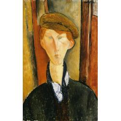 Amedeo Modigliani, Young man with cap, 1919, oil on canvas, 61x37,8 cm, Detroit Institute of Arts