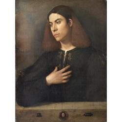 Giorgione, Portrait of a young man, 1510 circa, oil on canvas, 72,5x54 cm, Budapest, Szépmuvészeti Muzeum - Museum of Fine Arts