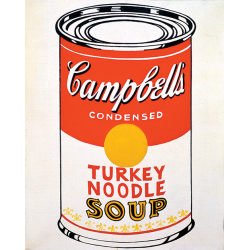 Andy Warhol, Campbell's Soup Can (Turkey Noodle), 1962, serigrafia su tela, 51x41cm; The Sonnabend Collection Foundation, in prestito a lungo termine a Ca' Pesaro, International Gallery of Modern Art, Venezia; © The Andy Warhol Foundation for the Visual Arts Inc. by SIAE 2016