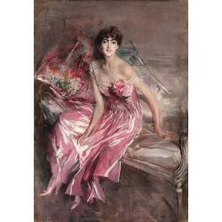 Giovanni Boldini, Lady in pink, 1916, oil on canvas, 163x113 cm, Ferrara, Gallery of Modern and Contemporary Art, Giovanni Boldini Museum