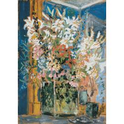 Filippo de Pisis, The great flowers in Massimo's home, 1931, oil on cardboard, 105x76 cm, Fondazione Carife collection, in storage at the Ferrara Gallery of Modern and Contemporary Art
