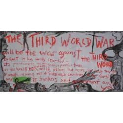 Lawrence Ferlinghetti, The Third World War, 1995; collezione dell'artista, San Francisco; © Lawrence Ferlinghetti