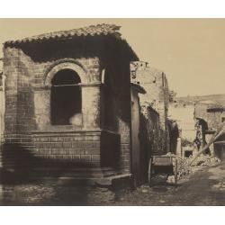 Robert MacPherson, Street View in Norcia, after the Earthquake, from casa Cipriani, 1860-61, albumina, 31x37cm; Biblioteca Luigi Poletti, Modena