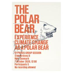 SUPERFLEX, Experience climate change as an animal / The Polar Bear (Arancione), 2009, stampa serigrafica, 5 elementi, 100x70cm ciascuno; edizione di 4, ciascuna di colori diversi; courtesy: SUPERFLEX e Galleria Nils Stærk, Copenhagen