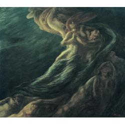 Gaetano Previati, Paolo and Francesca, 1901, oil on canvas, 230x260 cm, Ferrara, Gallery of Modern and Contemporary Art, Museum of the Nineteenth Century