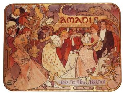 Alphonse Mucha, Poster for 'Les Amants'