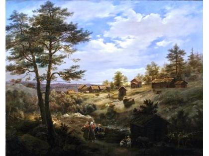 Cosroe Dusi, Finnish landscape, oil on canvas, 97x122 cm, Private collection