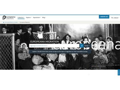 sito della Europeana Migration Collection