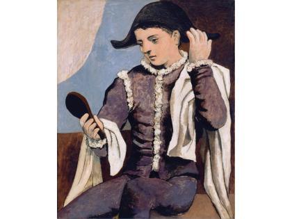Cultura Italia Arlecchino Con Specchio L Opera Di Picasso Sbarca