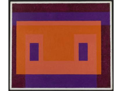 Josef Albers, Variant / Adobe, Orange Front, 1948-58; The Solomon R. Guggenheim Foundation, Gift, The Josef and Anni Albers Foundation in honor of Philip Rylands for his continued commitment to the Peggy Guggenheim Collection, 97.4555; © 2017 The Josef and Anni Albers Foundation / by Siae 2018