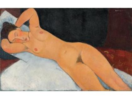 Amedeo Modigliani: Nudo, 1917 Olio su tela, cm 73 x 116,7. New York, Solomon R. Guggenheim Museum, Solomon R. Guggenheim Founding Collection, donazione