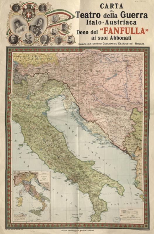 Cartina D Italia 1915.Cultura Italia La Guerra Delle Mappe